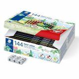 Classpack 144 crayons couleurs Noris Colour Staedtler + 3 taille crayons gratuits