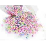 Bocal 500 grammes perles de rocaille couleurs nacrées