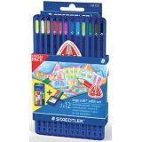 Etui 12 crayons de couleurs Ergosoft + 1 recharge 12 crayons GRATUITE