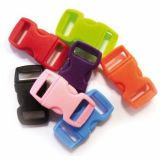 Sachet de 10 clips plastique 10mm en couleurs assorties