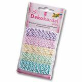 Lot 5x4 m cordons coton bicolores pastel