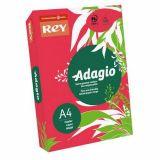 Ramette adagio vive 250 feuilles 120g A4 - rouge