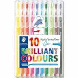 Etui 10 feutres Triplus Broadliner couleurs assorties