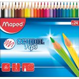 Etui 24 crayons couleurs School Peps Maped