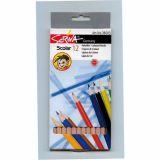 Etui 12 crayons couleurs 'éco' 18 cm Scriva