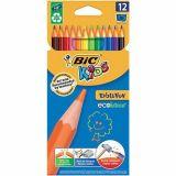 Etui carton 12 crayons couleurs Evolution Bic