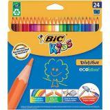 Etui 24 crayons couleurs Evolution Bic