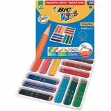 Classpack 144 crayons Evolution Bic 12 couleurs, 12 crayons par couleur