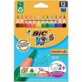 Etui 12 crayons de couleurs Bic