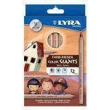 Etui 12 crayons géants couleurs Lyra couleurs de peau