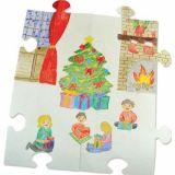 Puzzle à décorer géant de 30 pièces 23x24 cm