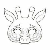 Bloc de 24 masques à colorier, thème les animaux