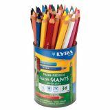 Pot 36 crayons de couleurs Lyra Color Giants