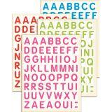 Gommettes lettres majuscules
