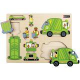 Première maquette Le camion-poubelle