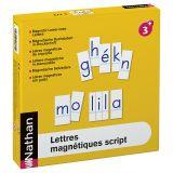 Lettres magnétiques script