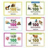 Bons points 5,7 x 7,8 cm (Boîte de 100) - petits chiens, petits chats