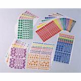 Pochette 40 feuilles gommettes (4900 gommettes) - carrées
