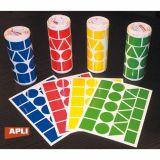 Ensemble de 4 rouleaux de gommettes géométriques