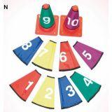 Set 10 cols de cône numerotes de 1 à 10