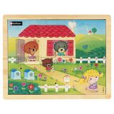 Puzzle bois 6 pièces - Boucle d'or et les 3 ours