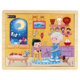 Puzzle bois 9 pièces - Pinocchio
