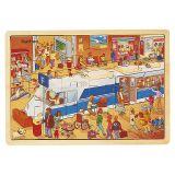 Puzzle bois - Le train