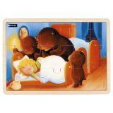 Puzzle bois 9 pièces - Boucle d'or et les 3 ours