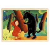 Puzzle bois 12 pièces - Le Petit Chaperon rouge